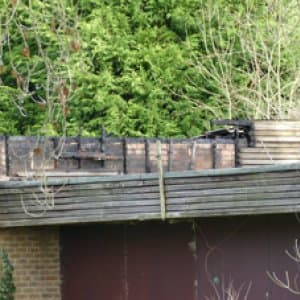 Fire at Wildfowl Trust Site