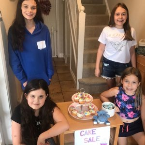 Charity cake sale success for local best friends