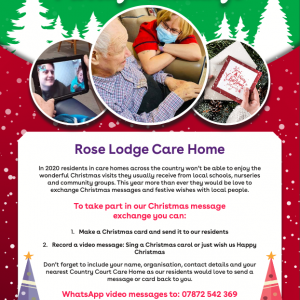 Christmas message exchange launched in care homes