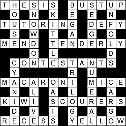 Village Tribune 117 Crossword Solutions